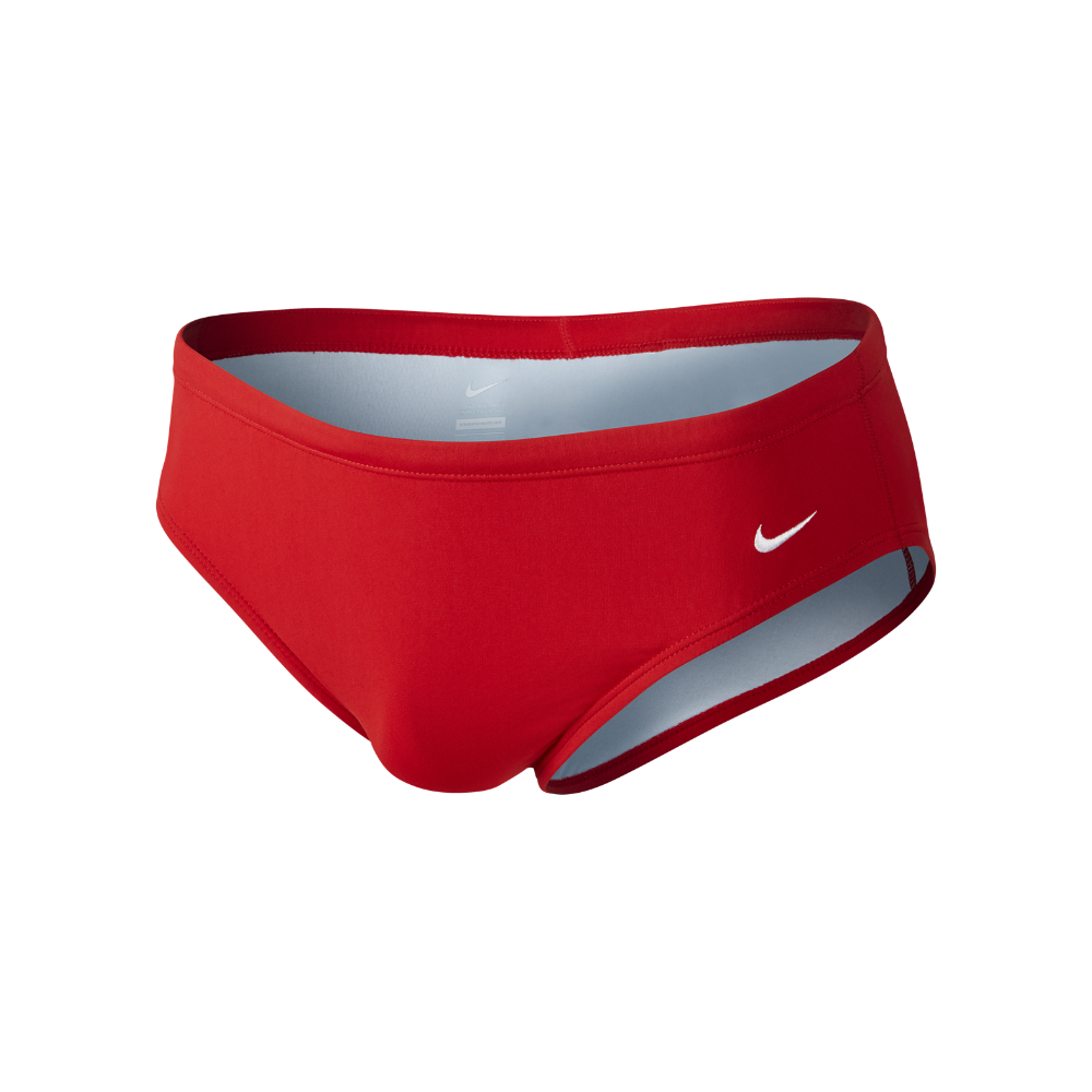 Nike Poly Core Solid Men's Swim Briefs Size 36 (Red)