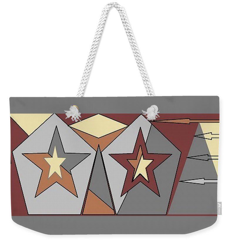 Weekender Tote Bag of 'Texas Stars' by Sumi e Master Linda Velasquez.