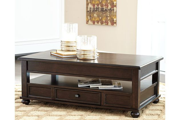 Barilanni Coffee Table With Lift Top By Ashley Homestore Brown