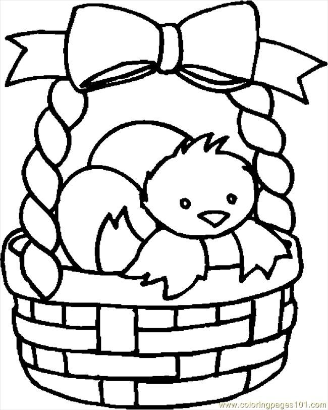 Easter egg basket coloring page | Crafts and Worksheets for ...