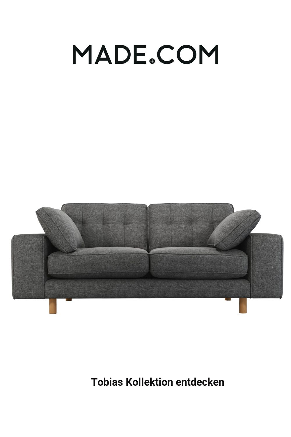 Content By Terence Conran Tobias 2 Sitzer Sofa Schiefergrau Helle Holzbeine In 2020 Sofa Sofa Texture Terence Conran