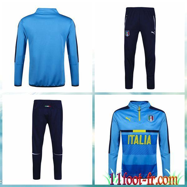 Italie Survette Foot 16 17 Homme Bleu Clair