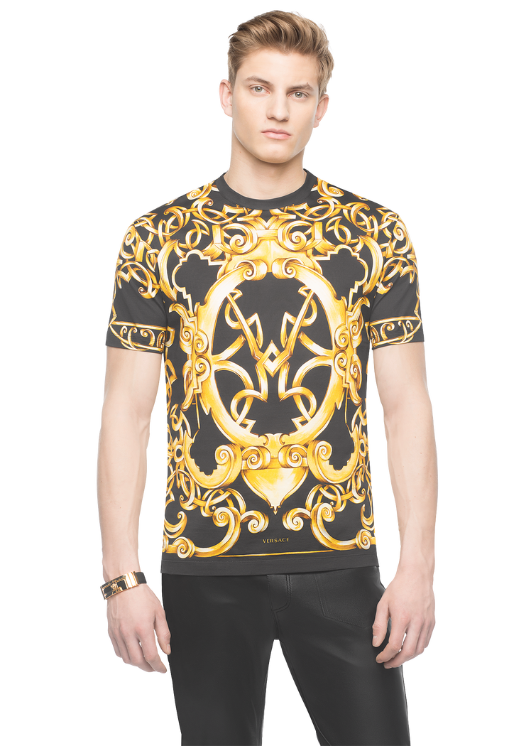 cf7bac18f6e24 Versace Heritage Barocco cotton t-shirt for Men | US Online Store. Heritage  Barocco cotton t-shirt from Versace Men's Collection.