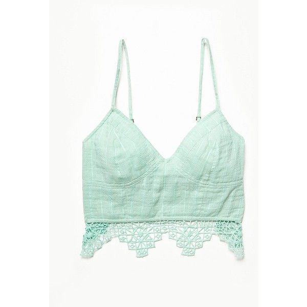 abb2003620733 Free People FP One Geo Lace Bralette ( 48) ❤ liked on Polyvore featuring  intimates