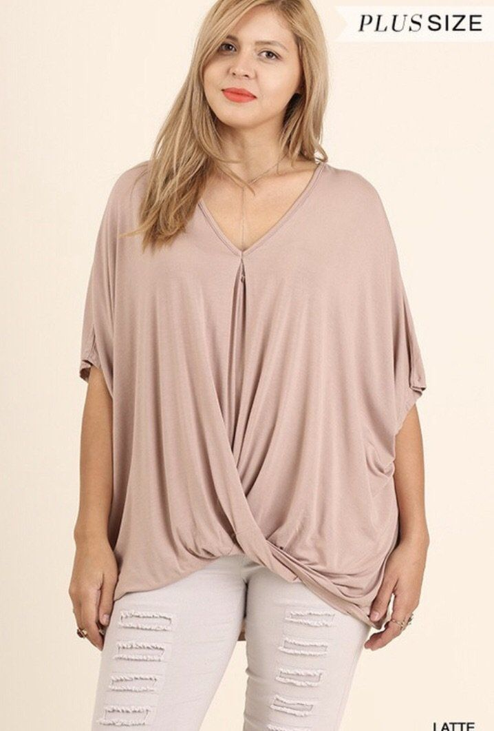 76fa1615c10 Umgee Plus Size Relaxed Surplice Top