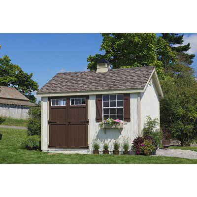 Little Cottage Company Colonial Pinehurst Solid And Manufactured Wood Storage Shed Wood Storage Sheds Backyard Sheds Shed Design