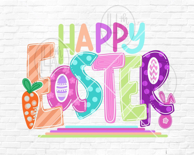 Easter Png Happy Easter Sublimation Design Happy Easter Clip Etsy In 2021 Happy Easter Clip Art Easter Images Clip Art Easter Images