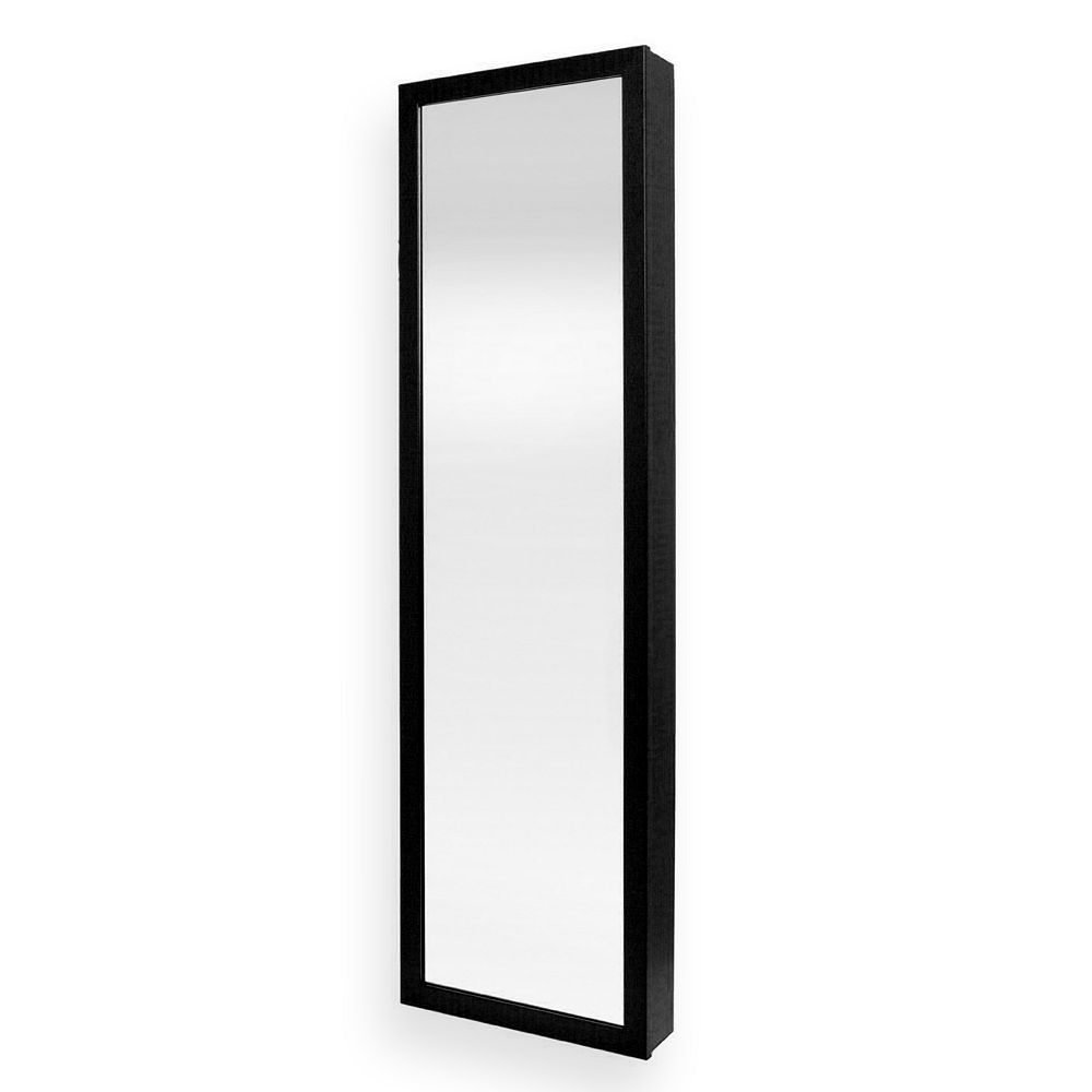 Mirrotek Over-The-Door Jewelry Armoire, Black | Cleaning ...