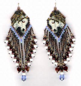 Arab Earrings Pattern at Sova-Enterprises.com