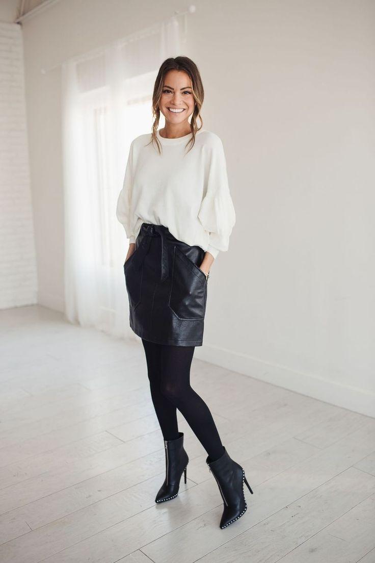 31 Consigli per indossare una gonna di pelle per uno stile casual – Idee per abiti da donna – …
