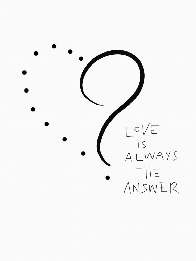Alexias Hand Lettering Quote Love Is Always The Answer Jesus