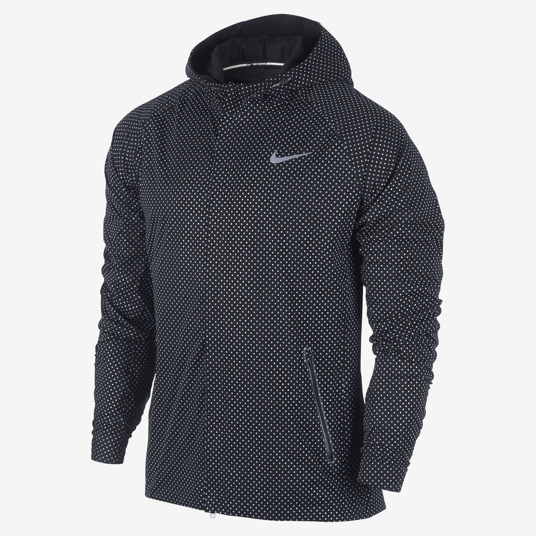 nike free run 2 reflective men's running jacket