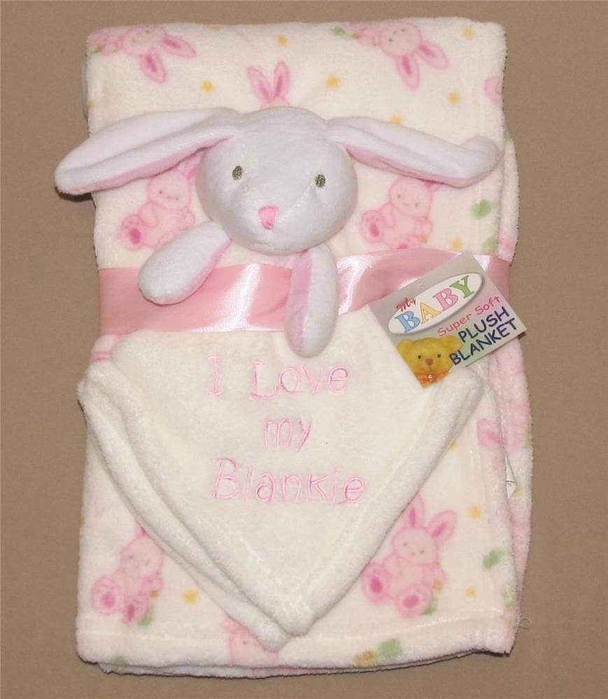 Plush Throw Giraffe Monkey Baby Infant Lovey Blanket Gift Set Security Blanket