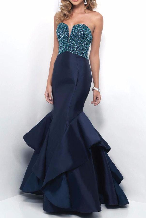 Blush 11253 Strapless Shimmering Detail Evening Gown | Poshare Make ...