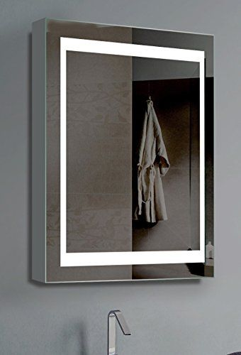 Innoci Usa 69402026 Electric Mirror Vanity Cabinet Lights On Each Side With Steel Back Frame