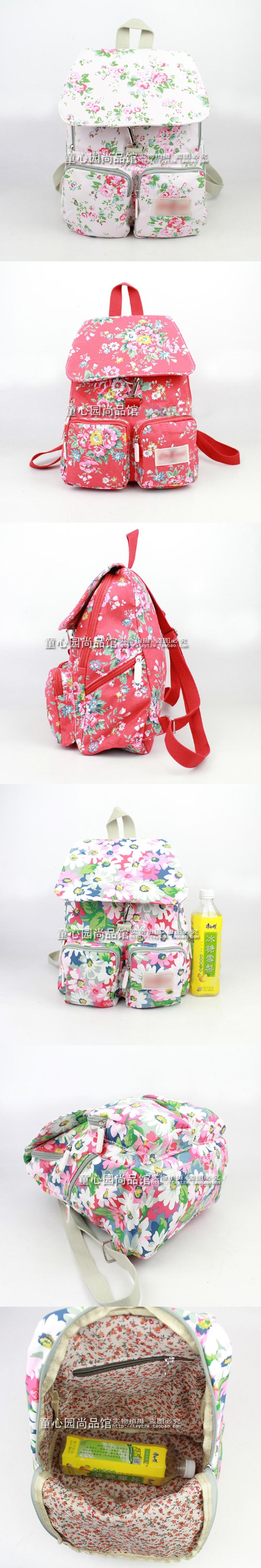 Children School Bags floral Printing Backpacks Canvas Bag Boys Gilrs Mochilas infantil School Kids schoolbag hiking backpack