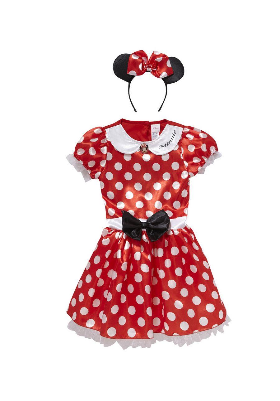 NWT Disney Girls Fancy Dress Minnie Mouse Black White Polka Dot Pretty Layered