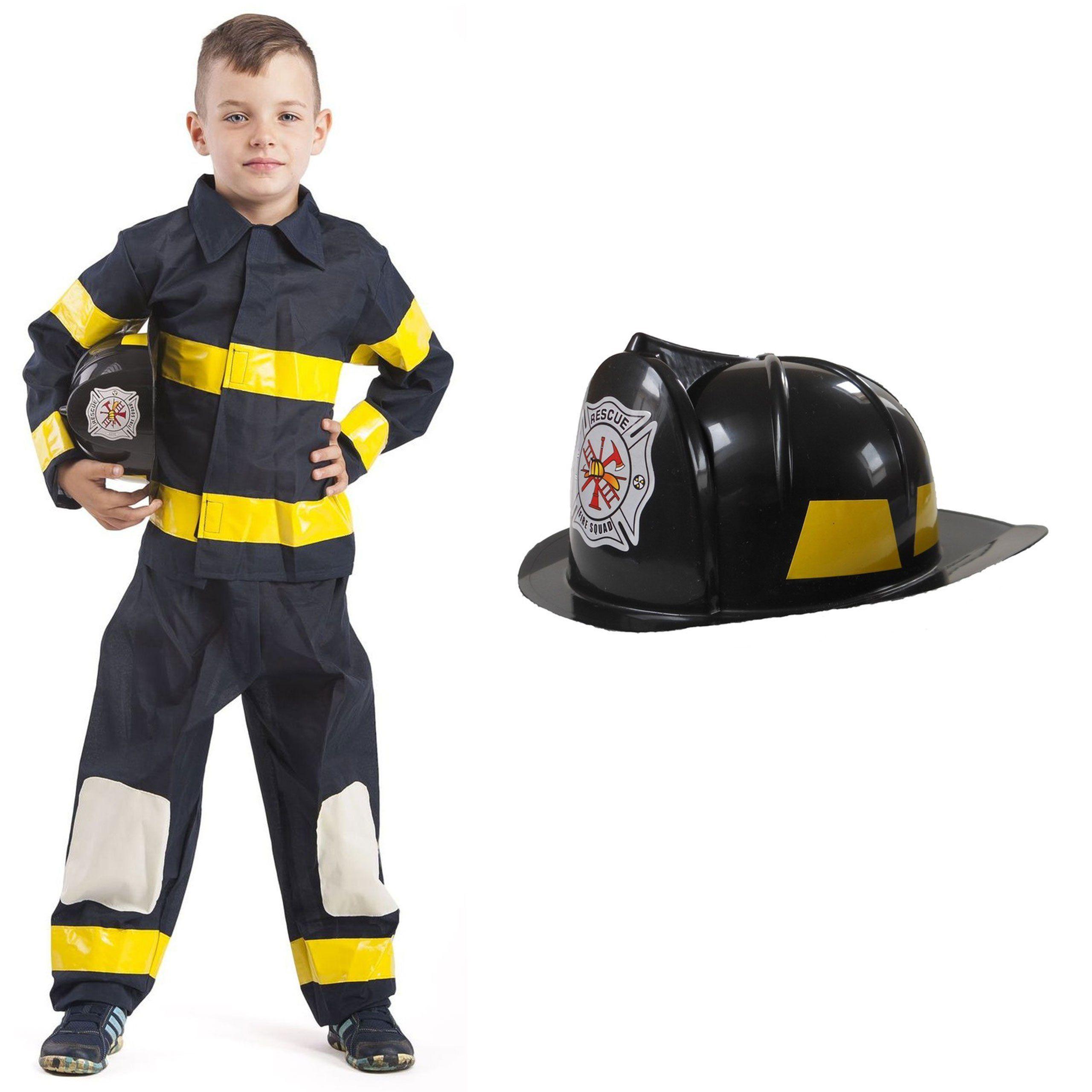 b9b404e8cb07f7 Strój Strażak Kostium Strażaka Mundur Kask Straż Pożarna dloa dziecka  134-140cm https:/