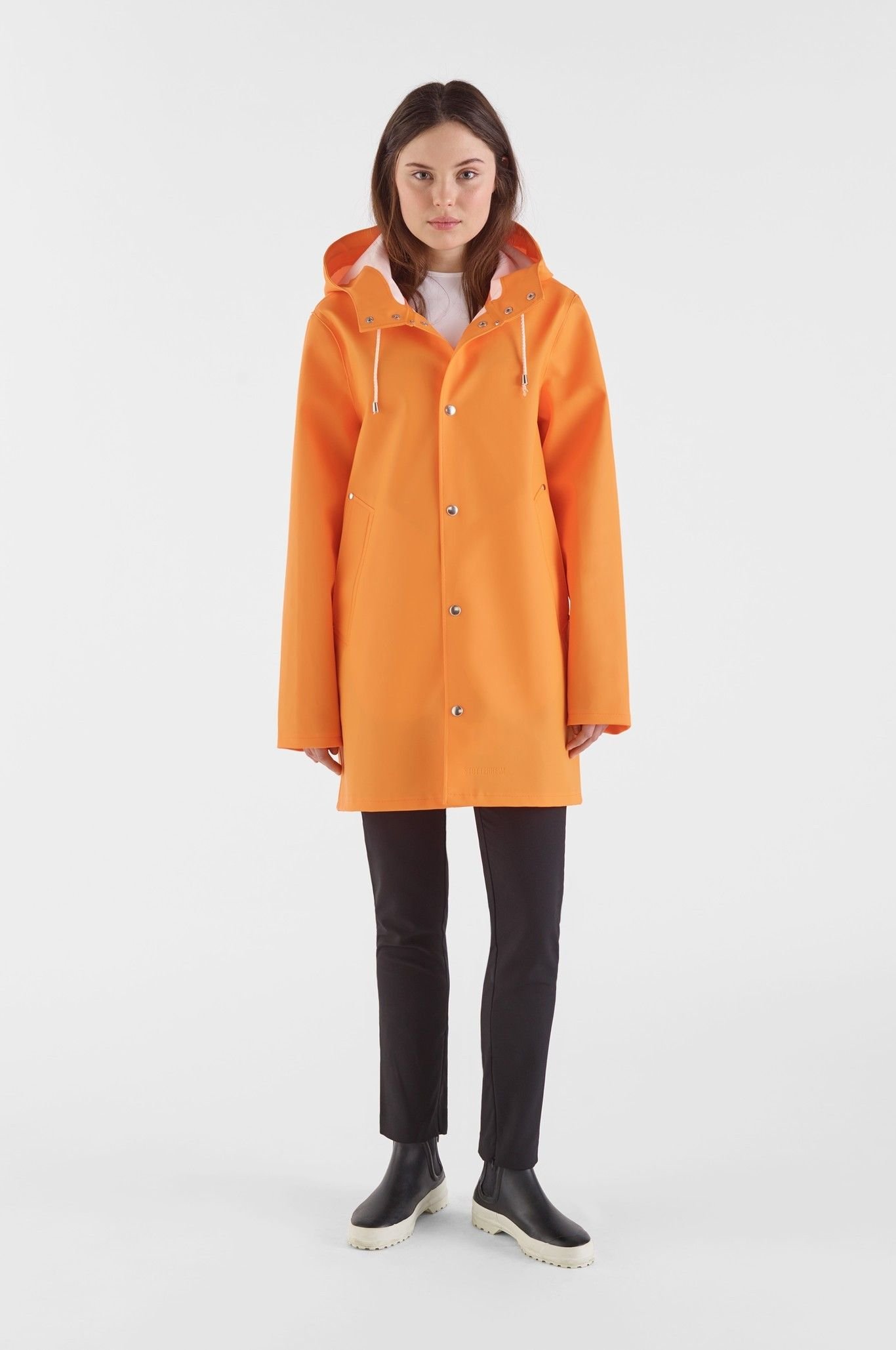 Stockholm orange sale man summer sale u stutterheim raincoats