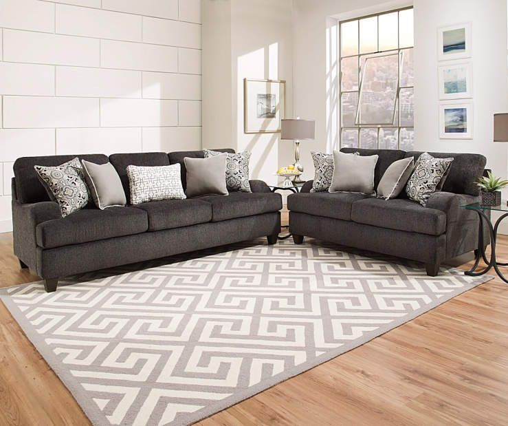 Simmons Freeport Slate Memory Foam Sofa | Big Lots