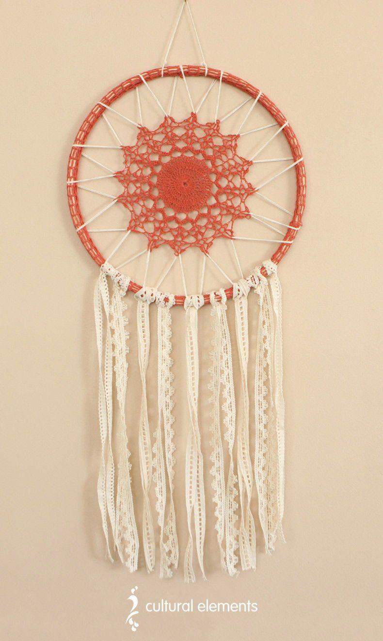 Vintage Inspired Crochet Dreamcatcher India Bohemian Crochet