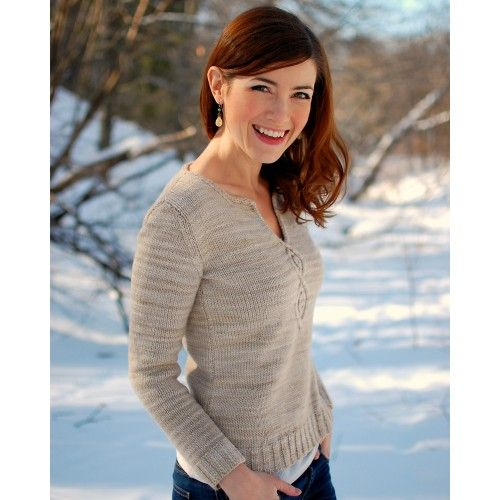 Cabled Leaf Pullover