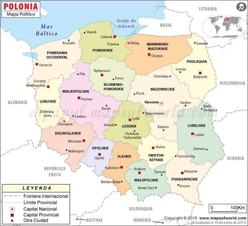 polonia mapa mapas polìticos   Buscar con Google | Polonia | Pinterest | Poland polonia mapa