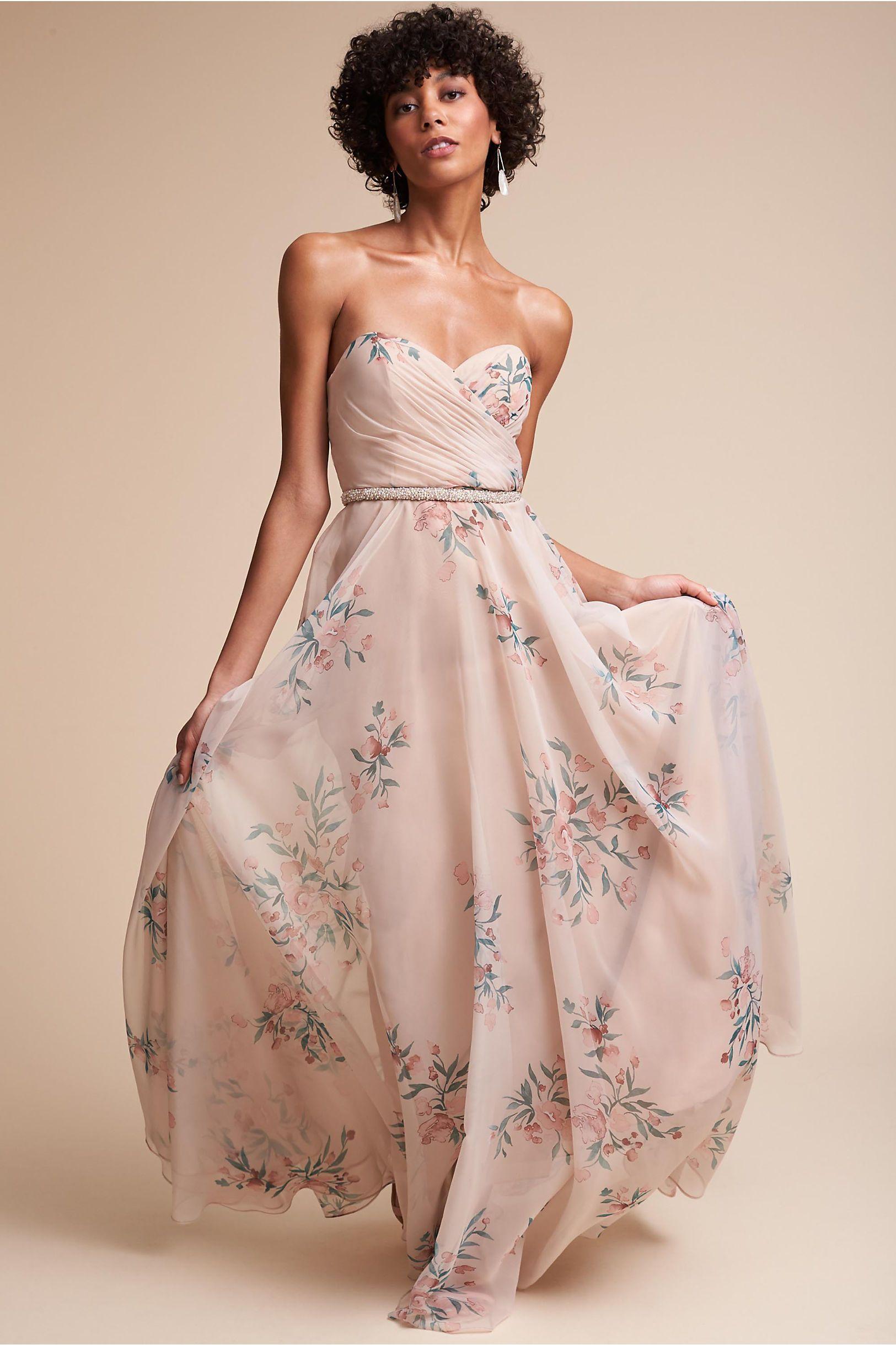 BHLDN\'s Jenny Yoo Adeline Dress in Soft Blush Chai | Pinterest