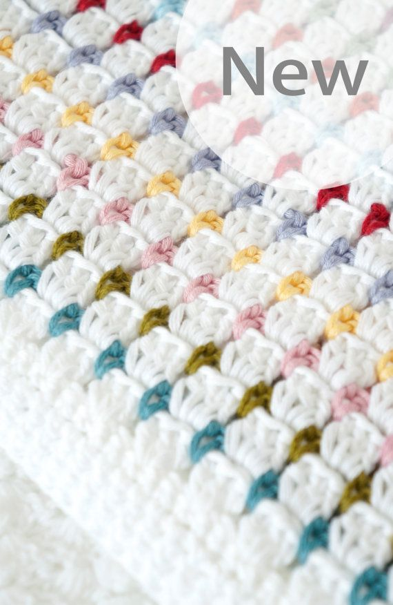 Crochet Baby Blanket Patterns Popcorn Stitch : Baby Blanket Crochet Pattern Annie PDF Instant Download ...