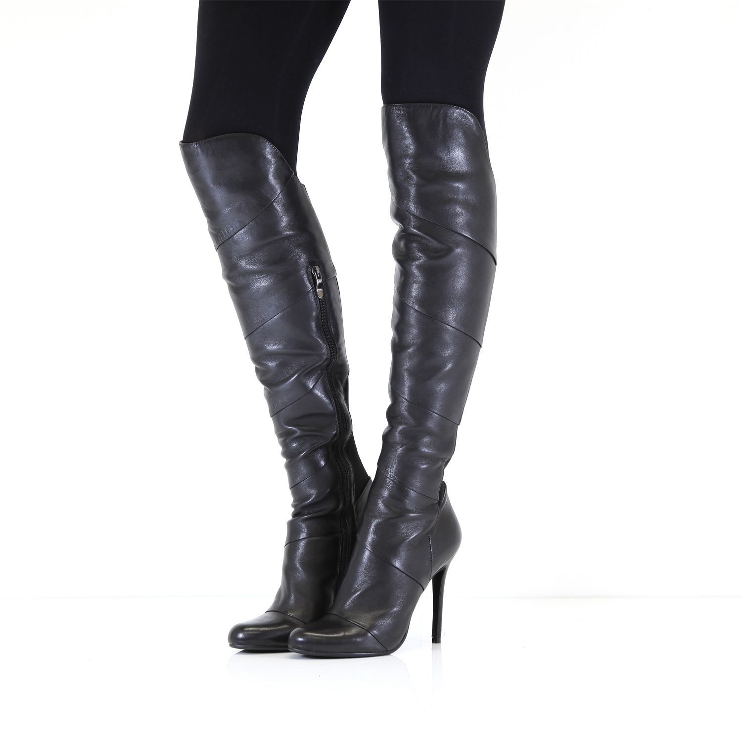 Women's Vancouver Black #Leather #Boots On modainpelle.com - http://bit.ly/1NfuExe