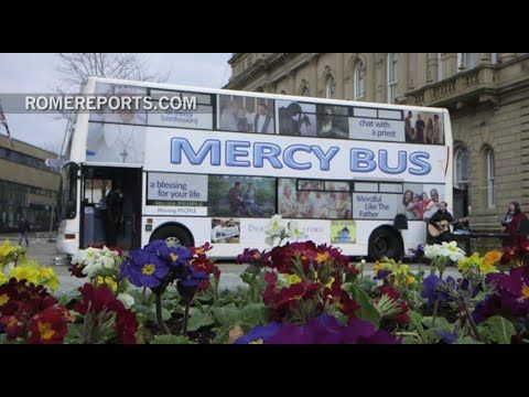 Priests in the UK hit the road in a double-decker, appropriately named, Mercy Bus
