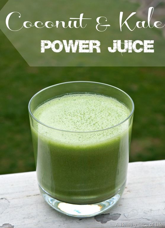 coconut kale power juice for kids and adults