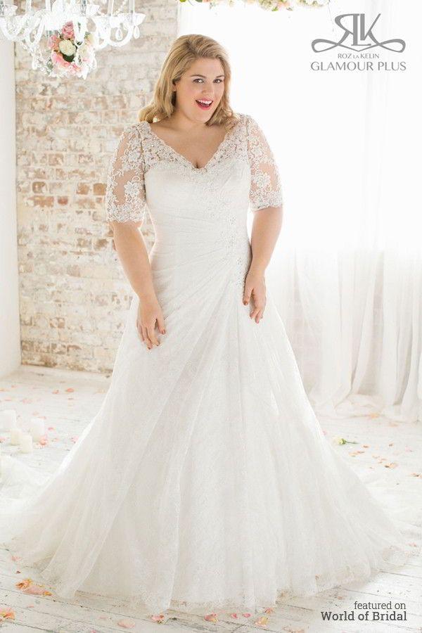 Roz la Kelin 2015 Plus-Size Wedding Dresses Glamour Plus Collection ...