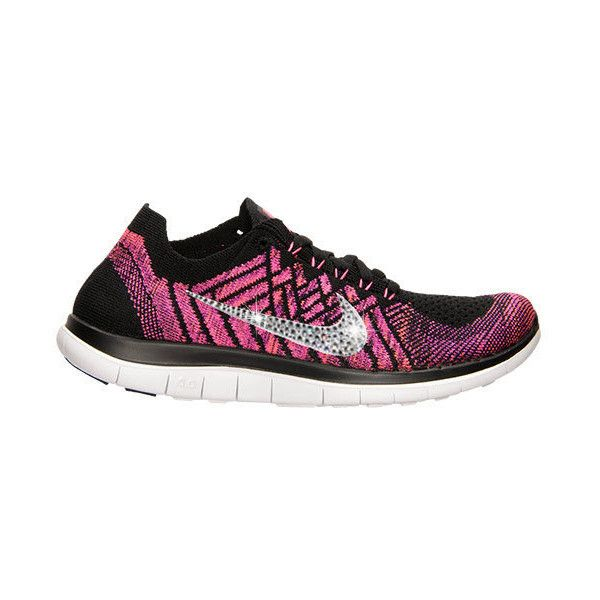 New Women s Nike 4.0 Flyknit Running Shoes black pink pow fuchsia ... 9eafe6cd0b