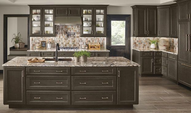 Best Cannon Grey Cherry Cheap Kitchen Cabinets Kitchen 400 x 300
