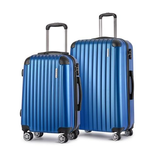 2 Piece 4 Wheel Wanderlite Hard Shell Suitcase Set TSA Lock ...