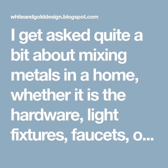 Photo of Ich werde ziemlich oft gefragt, ob ich Metalle in einem Haus mischen soll, ob es der harte Krieg ist …