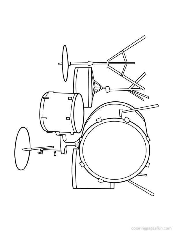 Musical Instruments Coloring Pages 46 | JAzz | Pinterest ...