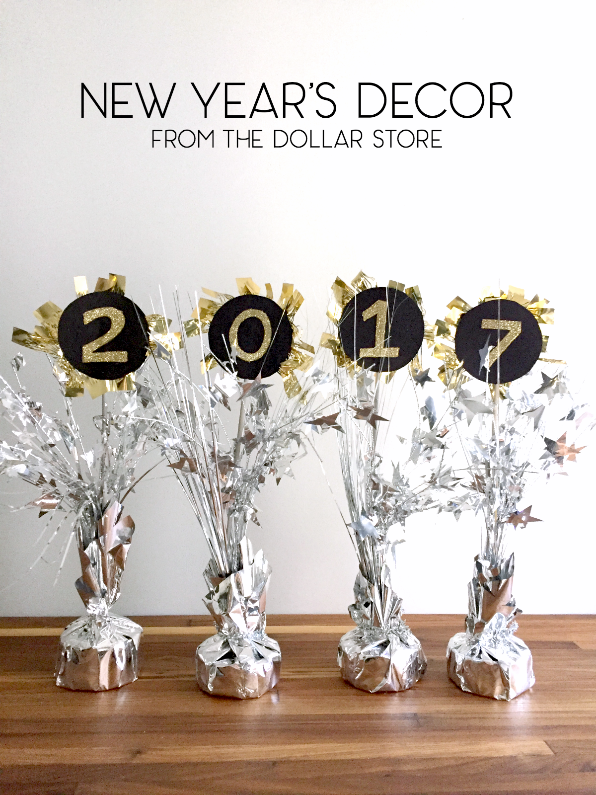 New Year's Eve Decorating Ideas from the Dollar Store ...