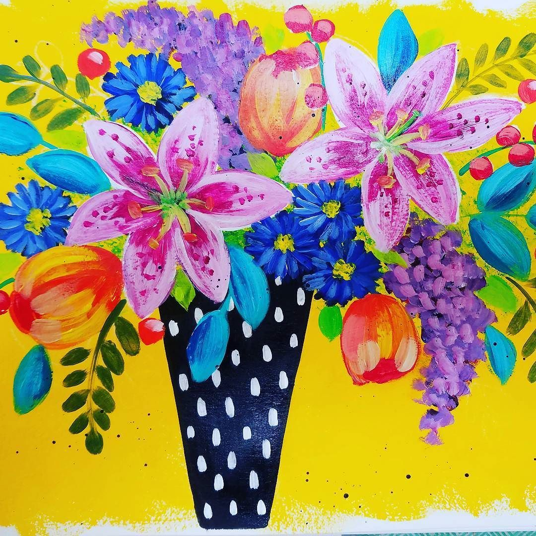 How to paint impressionist lilies tulips lilacs and aster boho how to paint impressionist lilies tulips lilacs and aster boho flower vase acrylic painting tutorial reviewsmspy