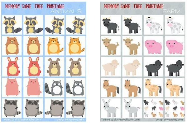 Juegos De Memoria Para Niños 5 Ideas Para Imprimir Pequeocio Activities Kids Comics