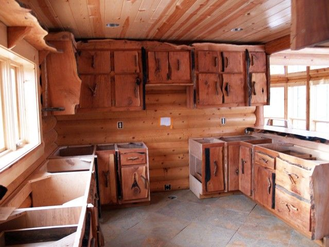 custom rustic kitchen cabinets. Rustic Style Custom Cabinets  Western Kitchen Dresser Shelves