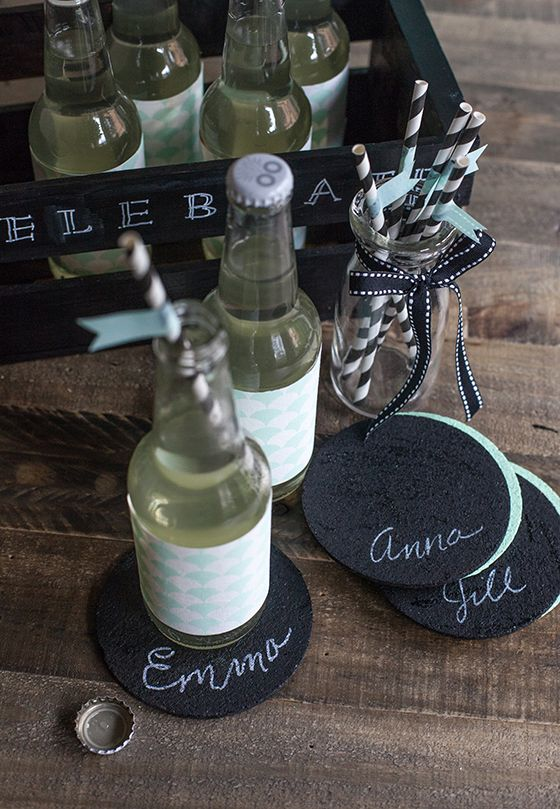 Chalkboard Coasters From Cork And Paint Chalkboard Coasters Mini Chalkboards Diy Chalkboard