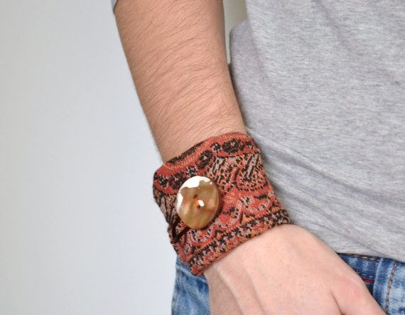 rust+orange+woven+wrist+cuff++organic+shaped+by+redstitchlab,+€23.00