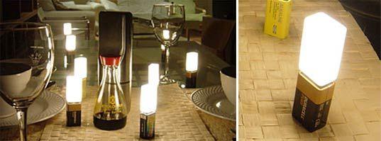 Richard Lawson 9Vo(l)tive, Battery LED light, 9volt battery lamp, LED candle, battery LED candle