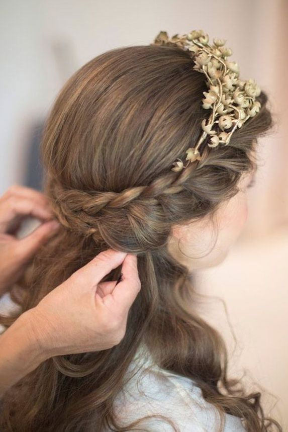 Elegant Wedding Hairstyles Half Up Down
