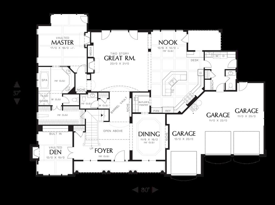 Image For Winthrop Northeastern Shingle Style Home Plan Main Floor Plan Shingle House Plans Country Floor Plans Country Style House Plans