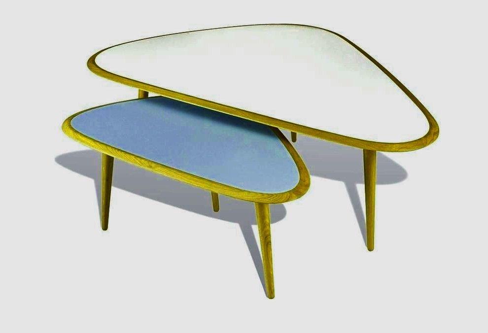 Table Basse Scandinave Gigogne Ensemble 2 Tables Fifties Cm Table Basse Gigogne Scandinave Bo Di 2020