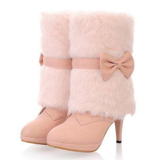 f01782974f Free Shipping Big Size 32 43 New 2013 Sexy High Heels Imitation Fur ...