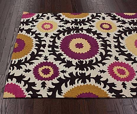 NuLOOM tapijten poefs Handgeweven tapijt FLEUR, 290 x